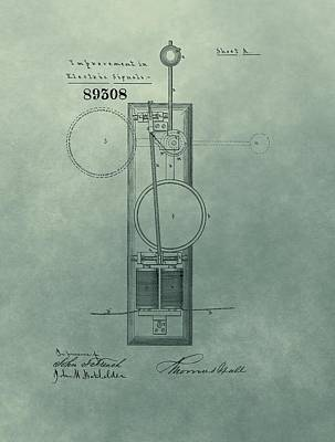 Electric Signal Patent  Poster