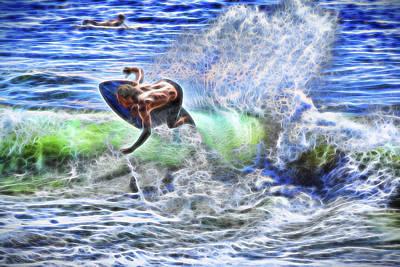 Electric Splash Poster