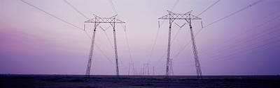 Electric Towers At Sunset, California Poster
