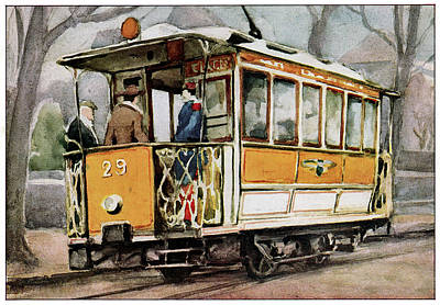 Electric Tram Poster by Cci Archives
