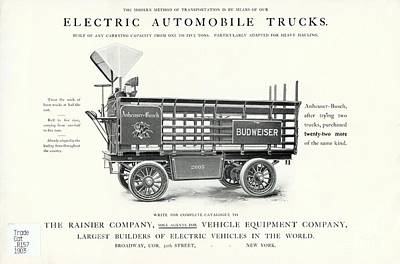 Electric Truck Advert, 1900s Poster by Hagley Archive