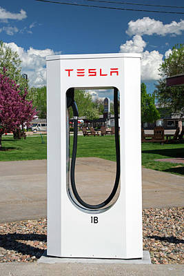 Electric Vehicle Charging Station Poster by Jim West