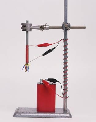 Electromagnetic Experiment Poster by Dorling Kindersley/uig