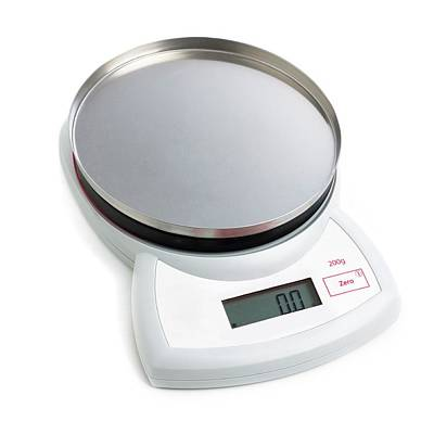 Electronic Weighing Scales Poster by Science Photo Library