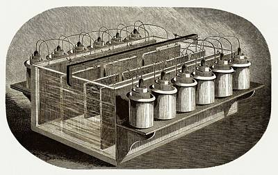 Electrotyping Tank For Woodblocks Poster by Sheila Terry