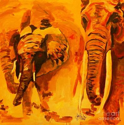 Elephants Poster by Jolanta Shiloni