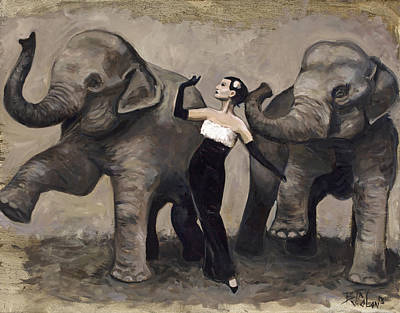 Elegance And Elephants Poster by Billie Colson