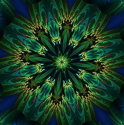 Elegance Green Kaleidoscope Poster