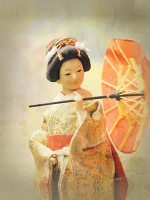 Elegant Japanese Geisha Doll Poster by Renee Forth-Fukumoto