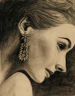 Elegant Profile Poster by Caroline  Reid
