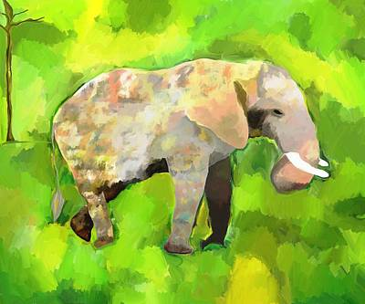 Poster featuring the painting Elephant 4 by Jeanne Fischer