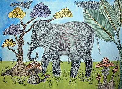 Elephant In The Jungle Poster