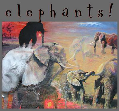 Poster featuring the mixed media Elephants - Art 4 Kids by Brooks Garten Hauschild