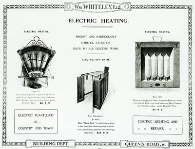 Eletric Heating, Wm Whiteley Ltd Poster by English School