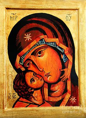 Eleusa Icon Poster by Ryszard Sleczka