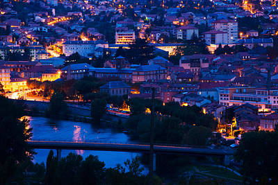 Elevated Town View At Dawn, Millau Poster by Panoramic Images