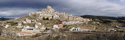Elevated View Ancient City, Morella Poster by Panoramic Images