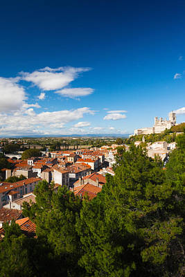 Elevated View Of A Town With Cathedrale Poster by Panoramic Images