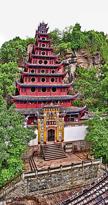 Elevated View Of Buddhist Temple Poster by Panoramic Images