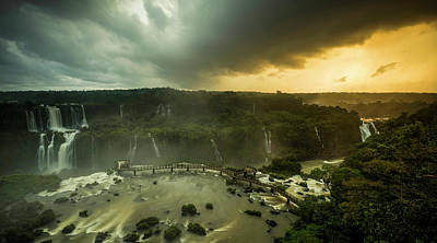 Elevated View Of Devils Throat Falls Poster by Panoramic Images