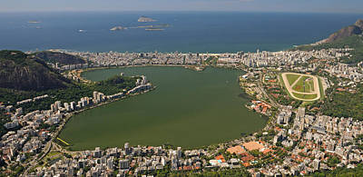 Elevated View Of Lagoa Rodrigo De Poster