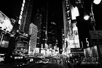 Elevated View Of Times Square In Nighttime New York City Poster by Joe Fox
