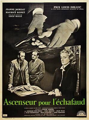 Elevator To The Gallows, Aka Ascenseur Poster by Everett
