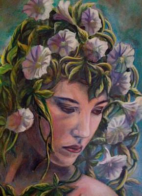 Poster featuring the painting Elf Dreams by Suzanne Silvir