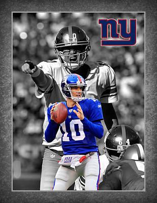 Eli Manning Giants Poster by Joe Hamilton