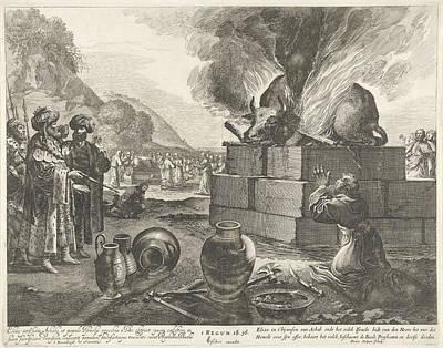 Elijah And The Prophets Of Bael, Pieter Nolpe Poster