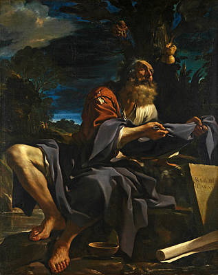 Elijah Fed By Ravens Poster by Guercino