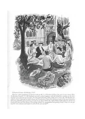 Elizabeth Conner Mcmeekin Poster by Helen E. Hokinson