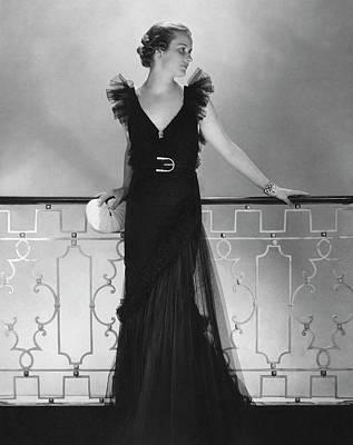 Elizabeth Harben Wearing A Lelong Dress Poster