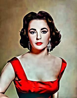 Elizabeth In Red Poster by Florian Rodarte