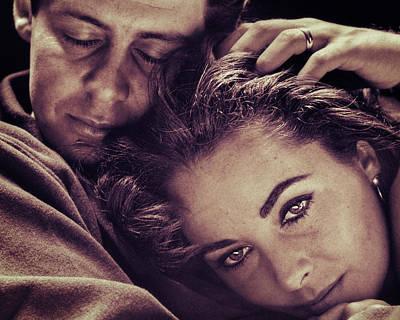 Elizabeth Taylor And Eddie Fisher Poster by Carlos Lazurtegui