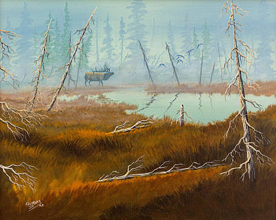 Poster featuring the painting Elk Swamp by Richard Faulkner
