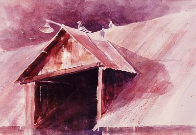 Poster featuring the painting Elkhorn Valley Barn by John  Svenson