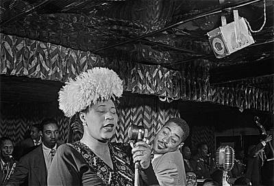Ella Fitzgerald And Dizzy Gillespie William Gottleib Photo Unknown Location September 1947-2014. Poster