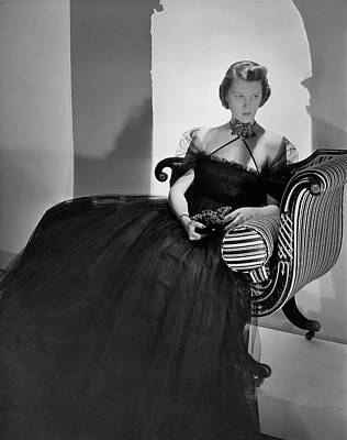 Ellen Astor Wearing A Tulle Dress Poster
