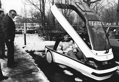 Ellert Electric Car At Ibm Poster by Ibm Research