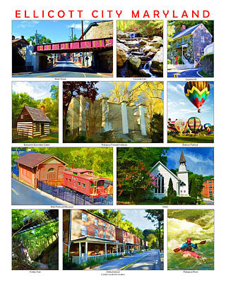 Poster featuring the photograph Ellicott City Maryland by Dana Sohr