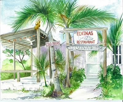 Elvinas Eleuthera Bahamas Poster