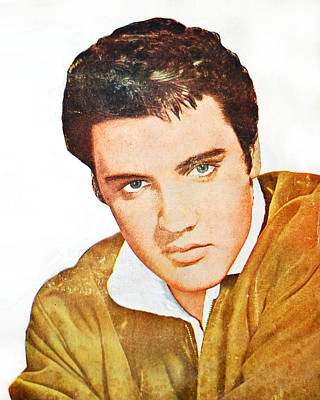 Elvis Colored Portrait Poster