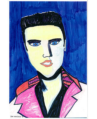 Poster featuring the painting Elvis by Don Koester