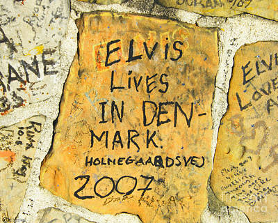 Poster featuring the photograph Elvis Lives In Denmark by Lizi Beard-Ward