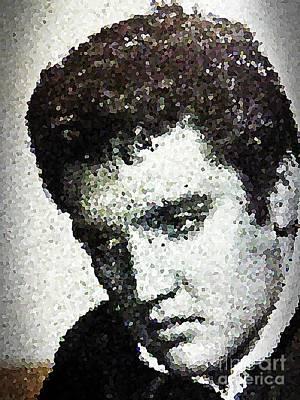 Elvis Love Me Tender Mosaic Poster
