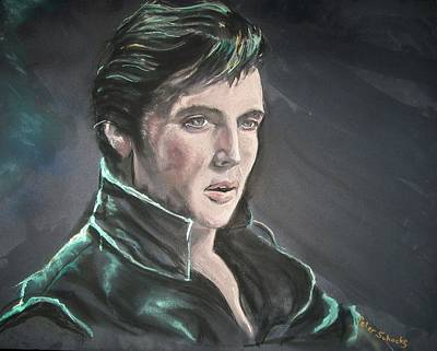 Poster featuring the mixed media Elvis by Peter Suhocke