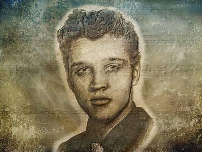 Elvis Presley Poster by Dan Sproul