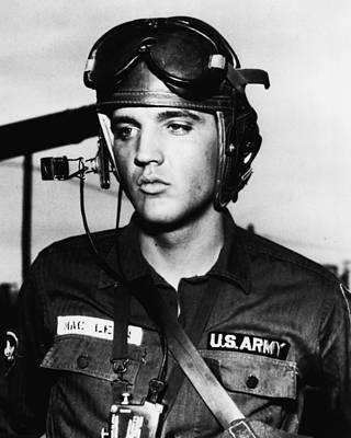 Elvis Presley In Military Uniform Poster