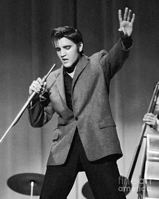 Elvis Presley Performing In 1956 Poster